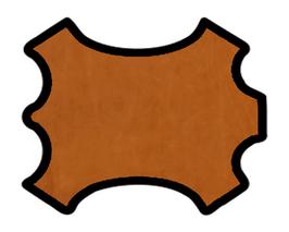 Demi peau de vachette nubuck tabac