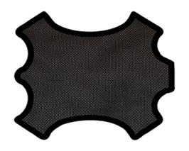 Demi peau de vachette perforée noire
