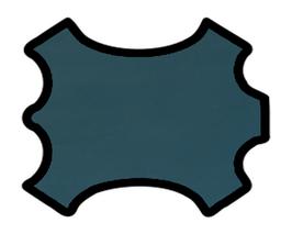 Peau d'agneau nappa bleu pétrole