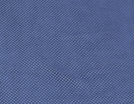 Morceau de cuir de vachette velours perforé bleu marine