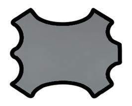 Demi peau de vachette gris securité