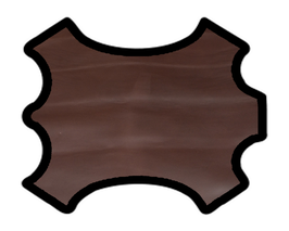 Peau de veau marron foncé