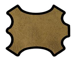 Peau d'agneau grainé doré vintage