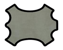 Peau d'agneau velours gris éléphant