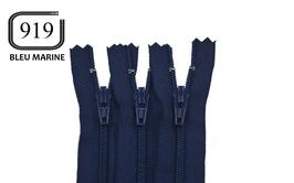 Fermeture éclair YKK bleu marine en nylon non séparable