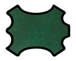 Demi peau de vachette nappa vert forêt