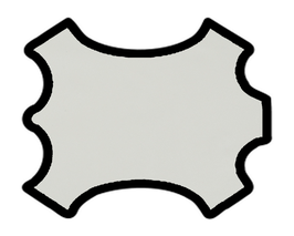 Demi peau de vachette grainée ivoire