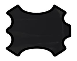 Peau de chèvre noire vernis