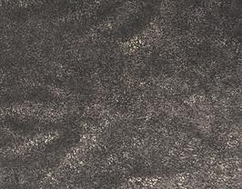 Morceau de cuir de vachette noir imprimé doré