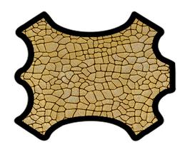 Peau de chèvre doré métallisé imprimé craquelé