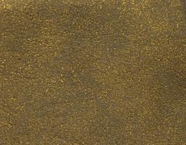 Coupon de cuir d'agneau velours vieilli doré métallisé