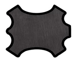 Peau d'agneau velours noir strié brillant