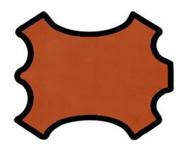 Peau d'agneau velours orange foncé