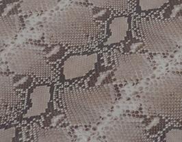 Morceau de cuir de vachette marron et beige imprimé python
