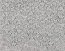 Morceau de cuir de vachette argenté imprimé fleurs