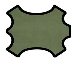 Peau d'agneau velours vert artichaut