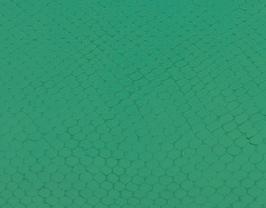 Coupon de cuir d'agneau vert émeraude imprimé serpent