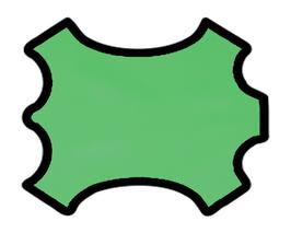 Peau d'agneau nappa vert clair