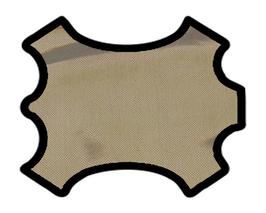 Peau d'agneau doré métallisé imprimé lézard