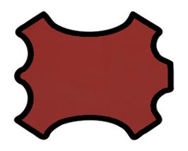 Demi peau de vachette rouge pourpre