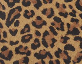 Coupon de cuir de veau nubuck léopard
