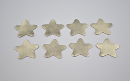 8 étoiles en cuir d'agneau doré métallisé