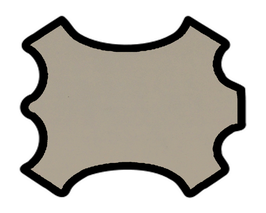 Peau de chèvre beige grisé