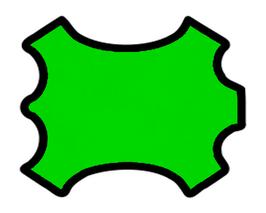 Peau d'agneau nappa vert fluo