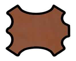 Demi peau de vachette caramel