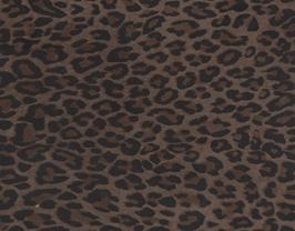 Morceau de cuir d'agneau velours léopard marron