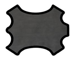 Peau de vachette gris foncé