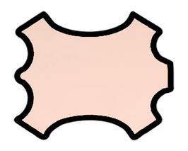 Peau d'agneau nappa rose pâle
