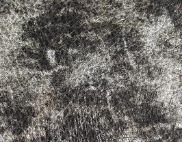 Morceau de cuir de chèvre chagrin argent métallisé et noir