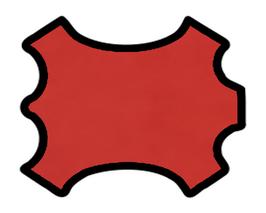 Peau de mouton nappa rouge