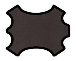 Demi peau de vachette marron foncé imprimée crocodile