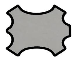 Demi peau de vachette nubuck gris clair