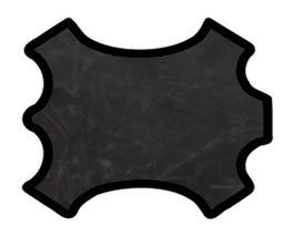 Demi peau de vachette noire vintage