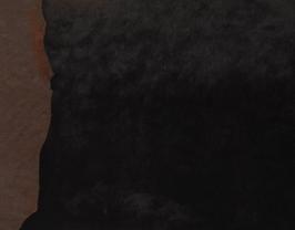 Morceau de cuir d'agneau lainé double face noir et marron