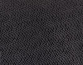 Morceau de cuir de vachette noir imprimé serpent