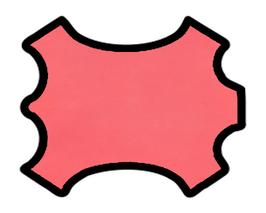 Peau d'agneau velours rose vif