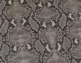 Morceau de cuir de chèvre gris et beige imprimé python