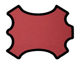 Peau de vachette imprimée rouge carmin