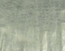 Morceau de cuir de vachette argenté métallisé