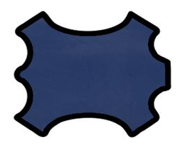 Peau d'agneau bleu indigo