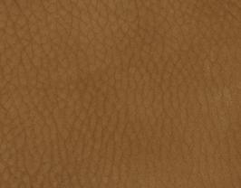 Coupon de cuir de vachette grainé caramel