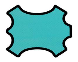 Peau de chèvre bleu azur imprimée aspic