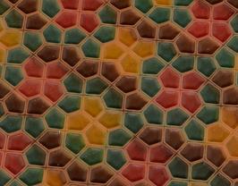 Coupon de cuir de vachette embossé multicolore
