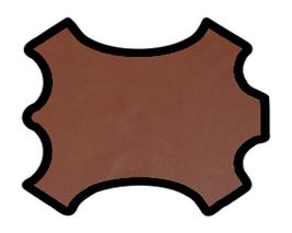 Demi peau de vachette grainée châtaigne