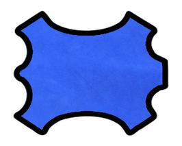 Peau d'agneau velours bleu électrique