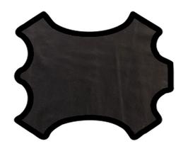 Demi peau de vachette noire vernis